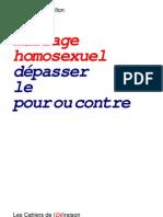 Mariage homosexuel, dépasser le pour ou contre - Pierre-Marie Guillon