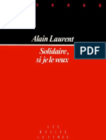 Solidaire, Si Je Le Veux - Alain Laurent