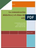 LA COMUNICACIÓN DIDÁCTICA Y EL CLIMA DEL AULA