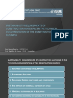 Sustainability in Building Materials and Documentation