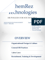 ChemRez Technologies - A HR Strategy for Korea