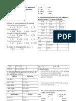 Mock Test - Math