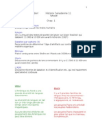 Histoire Canadienne 11 notes