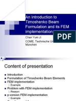 Chan-An Introduction to Timoshenko Beam Formulation and Its FEM Implementation