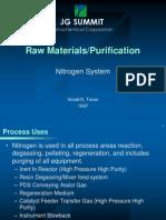 Raw Materials & Purification - Nitrogen