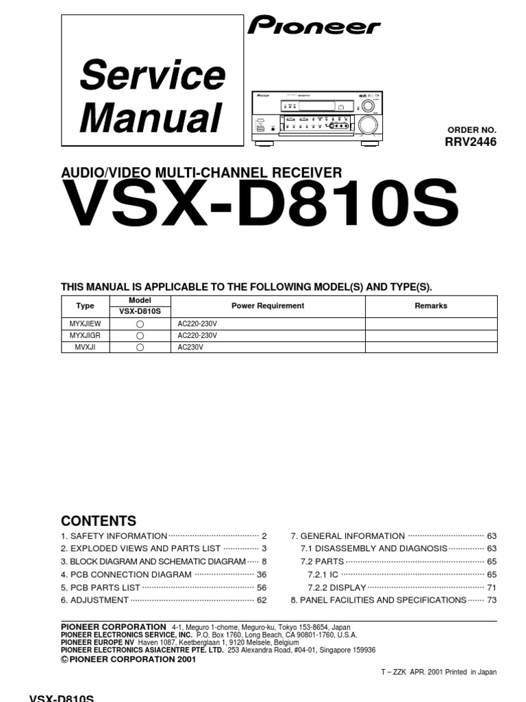 Pioneer vsx d810rrv2446 service manual am broadcasting pioneer vsx d810rrv2446 service manual am broadcasting electrical connector fandeluxe Choice Image