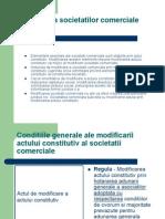 Modificarea Societatilor Comerciale 1 -Presentation1