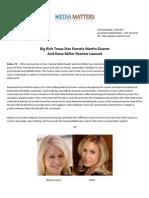 Big Rich Texas -- Martin - Miller Resolve Suit Press Release 6.27.12