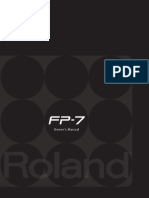 Roland Fp7 Manual