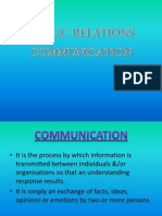 Public Relations Communication