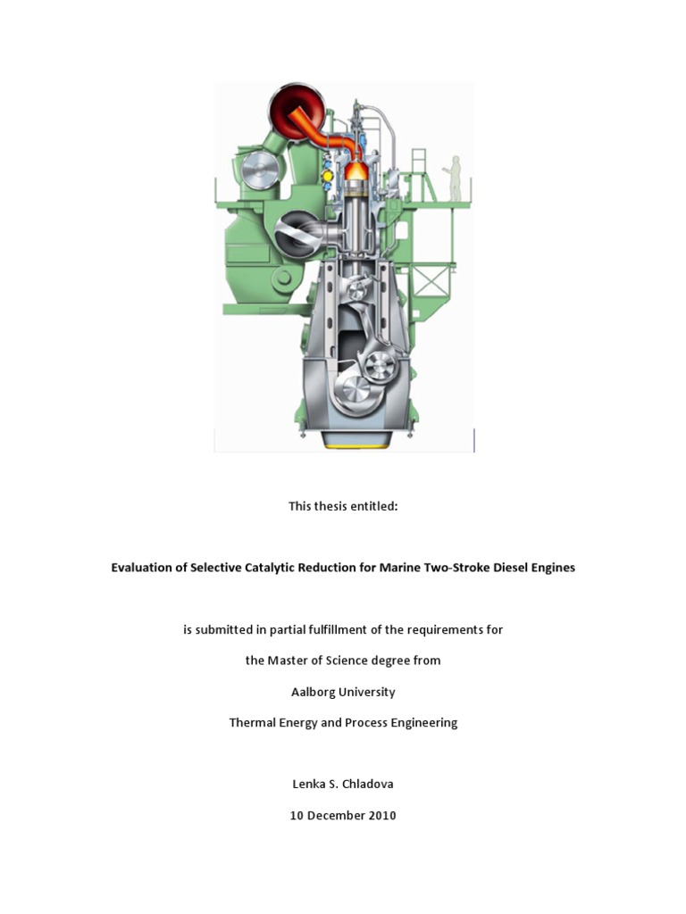 Evaluation Of Selective Catalytic Reduction For Marine Two Stroke Diesel Engines 92
