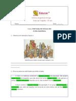 ficha de avaliação portugal no sec.  XIII 2- HGP- 5º ano