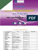 Liste_participation Edition Doctoriales UAG