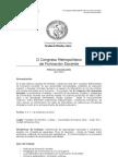 Congreso Metropolitano Gacetilla
