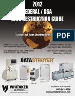 2012 Whitaker Data Destruction Guide