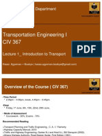 1_Introduction to Transport Engineering