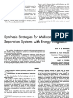 Synthesis Strategies for Multicomponent Separation Systems With Energy Integration