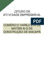 PESQUISA SEBRAE VAREJO MATERIAIS DE CONSTRUÇÃO