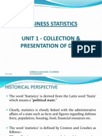 Unit I-chapter 1-Collection & Presentation of Data