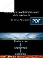 Indicaciones y Contraindicaciones de La Exodoncia