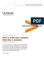How to Make Your Company Think Like a Customer