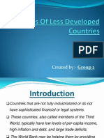 Features of Less Developed Countries