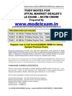 NCFM CAPITAL MARKET MODULE (CMDM) STUDY NOTES. NCFM MOCK TEST AT WWW.MODELEXAM.IN
