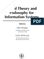 059EB_Social Theory and Philosophy for Information Systems0470851171