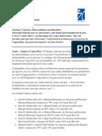 3C Etudes - Communiqué de presse - Duels politiques, Présidentielles Tunisie - Juin 2012