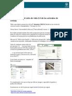 Potenciación del ciclo de vida revistas cienfiicas CRECS 2012