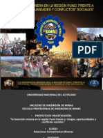 Inversion Minera Region Puno