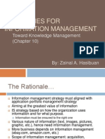 Strategies for Information Management KMS Ch10 w 11
