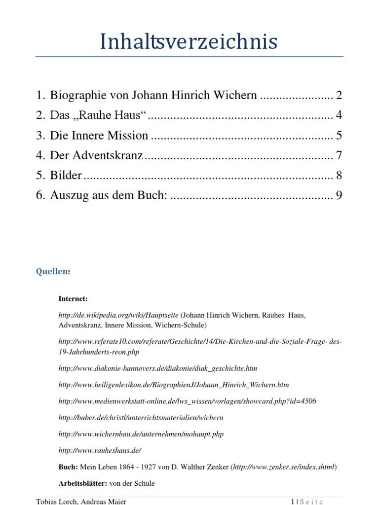 J. H. Wichern