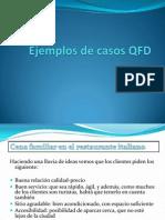 Ejemplos de Casos QFD