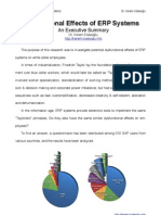Dysfunctional Effects of ERP Systems - An Executive Summary