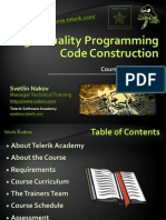 High-Quality Programming Code Construction - Course Introduction