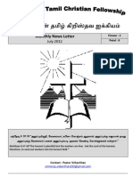 Wellington Tamil Christian Fellowship News Letter - November