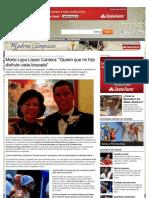 Entrevista con la mamá del campeón de natación Víctor López Cantera