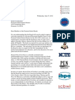 Fremont Joint Letter