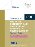 Guidance on the Safer Detention and Handling of Detainees 2012
