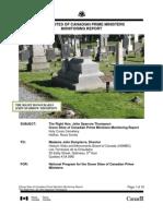 John Sparrow Thompson Grave Site Monitoring Report 2011