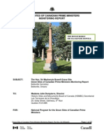 Sir Mackenzie Bowell Grave Site Monitoring Report 2011