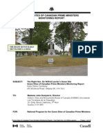 Sir Wilfrid Laurier Grave Site Monitoring Report 2011