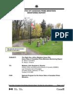 Arthur Meighen Grave Site Monitoring Report 2011