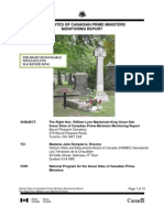 William Lyon Mackenzie King Grave Site Monitoring Report 2011
