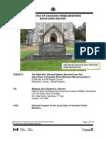 R.B. Bennett Grave Site Monitoring Report 2011