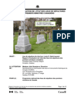 Louis Saint-Laurent Grave Site Monitoring Report 2011
