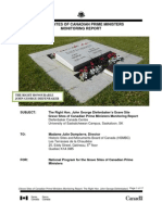 John Diefenbaker Grave Site Monitoring Report 2011