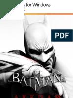 Batman Arkham City Manual