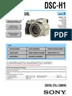 Sony DSC-H1 Service Manual
